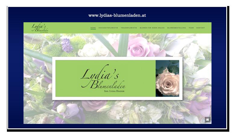 werbeagentur hassijun - www.hassijun.com - Schwertberg - Linz - Hans Peter Lorenz - Kundenzufriedenheit - CMS - WordPress - responsive - Lydias Blumenladen